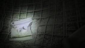 Τοίχος του βράχου με το μέταλλο απόθεμα βίντεο
