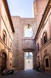 Τοίχος του καθεδρικού ναού της Σιένα Ιταλία Στοκ εικόνα με δικαίωμα ελεύθερης χρήσης
