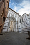 Τοίχος του καθεδρικού ναού της Σιένα Ιταλία Στοκ φωτογραφία με δικαίωμα ελεύθερης χρήσης