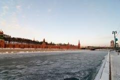 Τοίχος του Κρεμλίνου - Μόσχα, Ρωσία Στοκ φωτογραφία με δικαίωμα ελεύθερης χρήσης