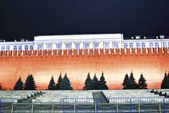 Τοίχος του Κρεμλίνου στην κόκκινη πλατεία στη Μόσχα Στοκ φωτογραφίες με δικαίωμα ελεύθερης χρήσης