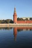 Τοίχος του Κρεμλίνου και ποταμός της Μόσχας Στοκ φωτογραφίες με δικαίωμα ελεύθερης χρήσης