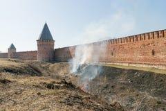 Τοίχος του Κρεμλίνου στο Σμολένσκ Στοκ εικόνες με δικαίωμα ελεύθερης χρήσης