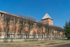 Τοίχος του Κρεμλίνου στο Σμολένσκ Στοκ φωτογραφίες με δικαίωμα ελεύθερης χρήσης