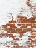 Τοίχος του κόκκινου παλαιού τούβλου Στοκ Εικόνα