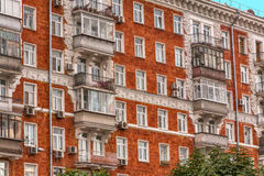 Τοίχος του κόκκινου σπιτιού Στοκ Φωτογραφίες
