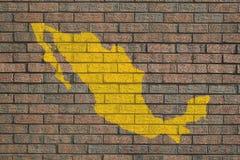 τοίχος του Μεξικού χαρτών ελεύθερη απεικόνιση δικαιώματος