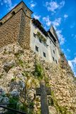 Τοίχος του μεσαιωνικού Castle στο πίτουρο, Τρανσυλβανία, Ρουμανία Στοκ εικόνες με δικαίωμα ελεύθερης χρήσης