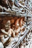 Τοίχος του πεζουλιού του βασιλιά λεπρών, Angkor Wat, Καμπότζη Στοκ Φωτογραφίες