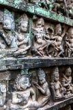 Τοίχος του πεζουλιού του βασιλιά λεπρών, Angkor Wat, Καμπότζη Στοκ φωτογραφία με δικαίωμα ελεύθερης χρήσης