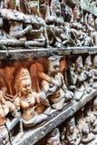 Τοίχος του πεζουλιού του βασιλιά λεπρών, Angkor Wat, Καμπότζη Στοκ φωτογραφίες με δικαίωμα ελεύθερης χρήσης