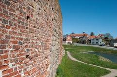 Τοίχος του Castle στις καταστροφές κάστρων Vordingborg στη Δανία Στοκ Εικόνες
