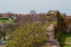 Τοίχος του Castle στις καταστροφές κάστρων Vordingborg Στοκ εικόνες με δικαίωμα ελεύθερης χρήσης