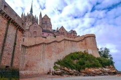 Τοίχος του Castle Mont Saint-Michel στοκ φωτογραφίες
