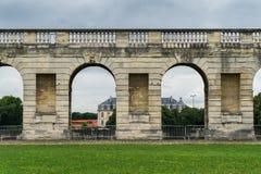 Τοίχος του Castle Vincennes, Παρίσι Γαλλία Βασιλικό φρούριο 14ο - 17ος αιώνας Στοκ Εικόνες