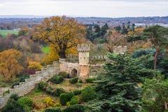 Τοίχος του Castle Warwick Στοκ φωτογραφία με δικαίωμα ελεύθερης χρήσης