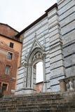 Τοίχος του Di Σιένα Duomo Στοκ Εικόνες