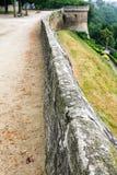 τοίχος του Jardin Anglais στην πόλη Dinan Στοκ Εικόνες