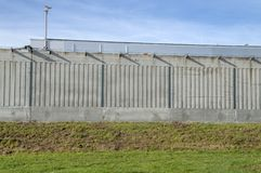 Τοίχος του Pieter Baan Center At Almere οι Κάτω Χώρες 2018 Άνοιγμα μετά από να κινήσει από την Ουτρέχτη προς την πόλη Almere τις  στοκ φωτογραφία με δικαίωμα ελεύθερης χρήσης
