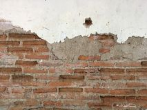 Τοίχος τούβλου grunge Στοκ φωτογραφίες με δικαίωμα ελεύθερης χρήσης