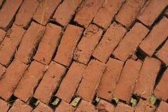 Τοίχος τούβλων πλίθας Στοκ Φωτογραφία