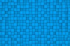 Τοίχος των ανοικτό μπλε κύβων Στοκ εικόνες με δικαίωμα ελεύθερης χρήσης