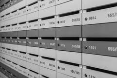 Τοίχος των γραμματοκιβωτίων Στοκ Εικόνες