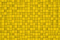 Τοίχος των κίτρινων κύβων αφηρημένη ανασκόπηση Στοκ Εικόνες
