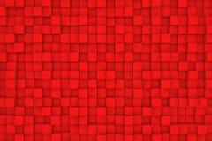 Τοίχος των κόκκινων κύβων Στοκ εικόνα με δικαίωμα ελεύθερης χρήσης