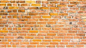 Τοίχος των κόκκινων τούβλων Στοκ Εικόνες