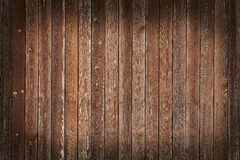 Τοίχος των ξύλινων πινάκων με το σύντομο χρονογράφημα Στοκ Εικόνα