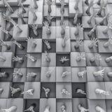 Τοίχος των χεριών Στοκ Φωτογραφίες