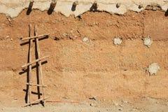 Τοίχος υποβάθρου μιας πλίθας στην έρημο Σαχάρας, Μαρόκο, Afric Στοκ φωτογραφία με δικαίωμα ελεύθερης χρήσης