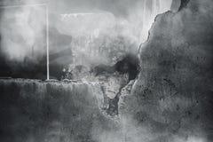 Τοίχος υποβάθρου φρίκης που ραγίζεται Στοκ φωτογραφίες με δικαίωμα ελεύθερης χρήσης