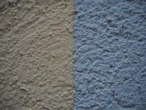 Τοίχος φραγμών χρώματος μπλε και κίτρινος στοκ εικόνα με δικαίωμα ελεύθερης χρήσης
