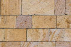 Τοίχος φρουρίων τούβλου (μετά από την αναδημιουργία) στοκ φωτογραφία με δικαίωμα ελεύθερης χρήσης