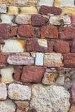 Τοίχος φρουρίων τούβλου Στοκ φωτογραφία με δικαίωμα ελεύθερης χρήσης