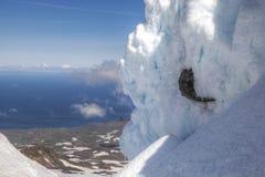 Τοίχος χιονιού Στοκ Φωτογραφίες