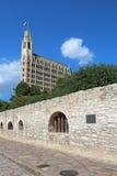 Τοίχος Alamo και του ξενοδοχείου της Emily Morgan Στοκ Εικόνες