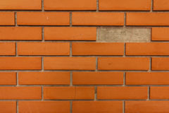 Τοίχος Brig που μερικά από τα τούβλα χάνουν Στοκ φωτογραφία με δικαίωμα ελεύθερης χρήσης
