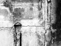 Τοίχος Grunge του παλαιού σπιτιού B&W ανασκόπηση κατασκευασμένη Στοκ Φωτογραφία