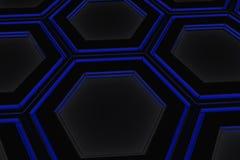 Τοίχος hexagons πυράκτωσης Στοκ Φωτογραφίες