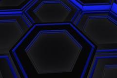 Τοίχος hexagons πυράκτωσης Στοκ Εικόνες
