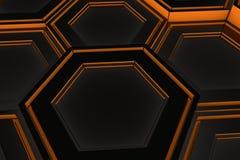 Τοίχος hexagons πυράκτωσης Στοκ Φωτογραφία