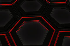Τοίχος hexagons πυράκτωσης Στοκ εικόνα με δικαίωμα ελεύθερης χρήσης