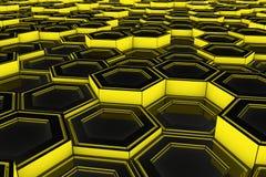 Τοίχος hexagons πυράκτωσης Στοκ φωτογραφίες με δικαίωμα ελεύθερης χρήσης