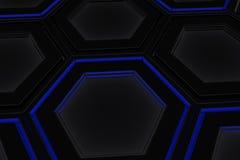 Τοίχος hexagons πυράκτωσης Στοκ εικόνες με δικαίωμα ελεύθερης χρήσης