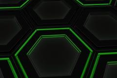 Τοίχος hexagons πυράκτωσης Στοκ φωτογραφία με δικαίωμα ελεύθερης χρήσης