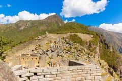 Τοίχος Inca σε Machu Picchu, Περού, Νότια Αμερική. Παράδειγμα της polygonal τεκτονικής. Η διάσημη πέτρα 32 γωνιών στοκ φωτογραφία με δικαίωμα ελεύθερης χρήσης