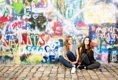 Τοίχος John Lennon στην Πράγα Στοκ Εικόνες